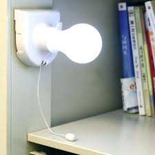 battery operated closet light with pull string white stick up lights cordless wireless night led chain