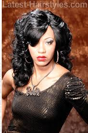 long dark weave hairstyle with curls