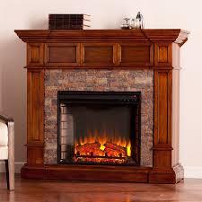 boston loft furnishings 45 75 in w 5000 btu buckeye oak mdf led electric fireplace
