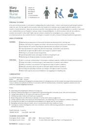 Resume Examples For Nurses Letter Resume Directory