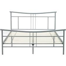chelsea metal queensize platform bed frame in matte nickel