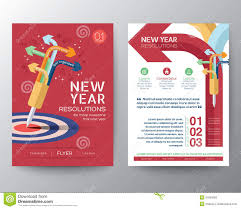 new year real estate flyers brochure flyer design layout vector template iwith new year reso