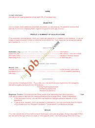 Sample Resume Templates Free Resume Example And Writing Download