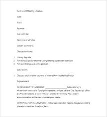 Elegant Writing Minutes Template Staff Meeting Basic Typing
