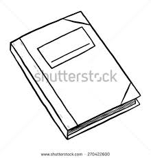 ledger notebook cartoon vector and ilration black and white hand drawn sketch