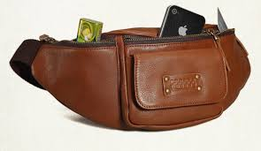 mens leather waist pack
