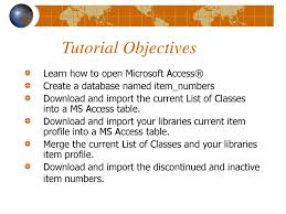 Microsoft Access Themes Download Creating A Customized List Of Classes Using Microsoft Access