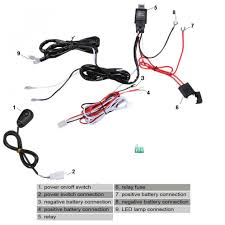 universal 12v 40a car fog light wiring harness kit loom for led universal 12v 40a car fog light wiring harness kit loom for led work driving light