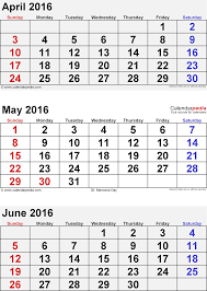 calendar for the month of may may 2016 calendar printable 3 month template remarkable of
