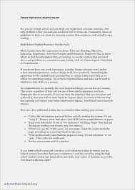 Resume Objective Examples For High School Students Free Resume