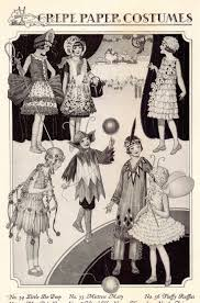 A few more of the crepe paper costumes from the Dennison booklet. Wow they  just get more and more intricate!