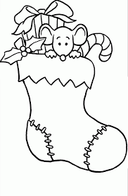 Small Picture Coloring Pages Christmas Stocking Many Interesting Cliparts