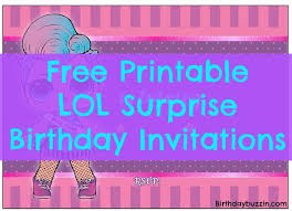 Free Printable Lol Surprise Birthday Party Invitations