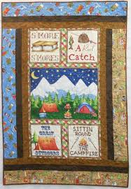 10 best Camper quilt images on Pinterest | Dolls, Fabric crafts ... & Camping Themed Quilts | fun camping themed quilt that is perfect for any  child who loves Adamdwight.com