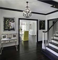 Dark wood floors white furniture