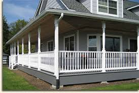 So this wrap around porch is a deck?