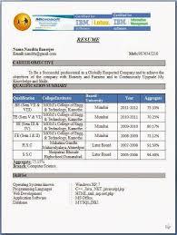 Resume Format For Engineering Fresher Resume Template Resume Sample