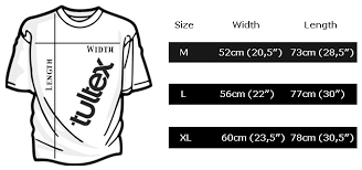 Tultex Size Chart Size Guide