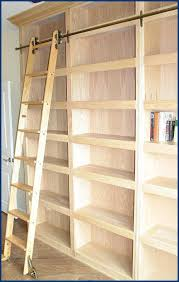 bookshelf with ladder billy bookcase library the cottage stylish decor 5 rolling bookshelf with ladder