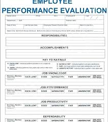Annual Review Forms For Employees Performance Review Form Template