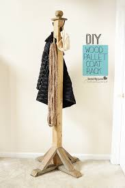How To Build A Standing Coat Rack DIY Wood Pallet Coat Rack 33