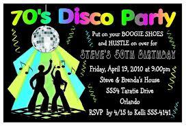 70s Disco Party Invitations For Birthday Etc Digital
