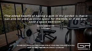 Small Picture A Home Gym in The Comfort of Your Garden Garden Rooms
