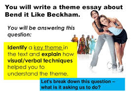 bend it like beckham theme essay task 5 you will write a theme essay about bend it like beckham