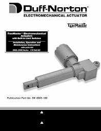 duff norton sk6905 100 1 manual