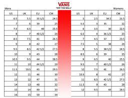 Vans Toddler Size Chart Inches Vans Shoe Size Chart Youth Bedowntowndaytona Com