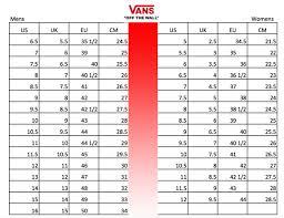 Youth Size 2 Shoes Chart Vans Shoe Size Chart Youth Bedowntowndaytona Com