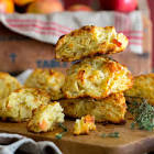 apple and cheese scones