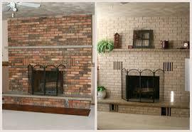 staining brick fireplace diy