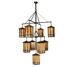 Arts And Crafts Mission Style Lighting Church Street 9 Lt Extra Large Arts Crafts Chandelier