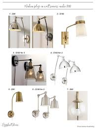 eggshell home modern plug in wall sconces under 100 round up