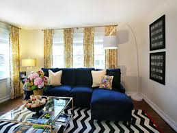 Navy Blue Living Room Chair Stunning Blue And Yellow Living Rooms Neutral Color Scheme For
