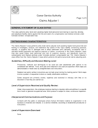 Cover Letter For Claims Adjuster Resume Cover Letter Template
