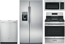 Bosch Kitchen Appliances Packages Ge 4 Piece Kitchen Package With Jgbs66rekss Gas Range Gse25hshss