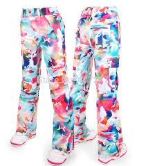 Womens Patterned Ski Pants