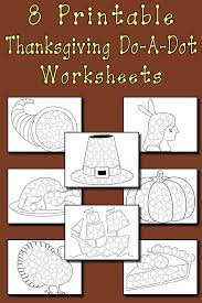 Its very important to help your kids in coloring at the begining. Thanksgiving Do A Dot Printables And Dot Art Painting Coloring Pages Supplyme