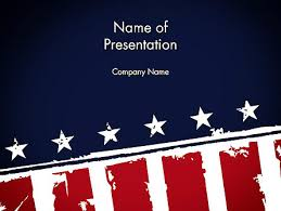 Usa Flag Theme Powerpoint Template Backgrounds 11920