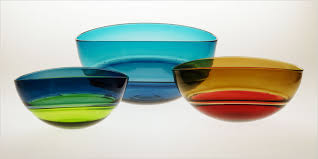blue glass bowls turquoise steel oval encalmo bowl by stewart hearn