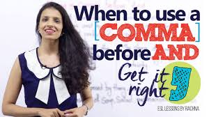 Using Comma Before And Advanced English Lesson Youtube