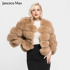 <b>Jancoco Max 2019</b> Real Fox Fur Gilet Women Winter Genuine Soft ...