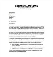Cover Letter Template Free Download Cover Letter For Cv Pdf Resume