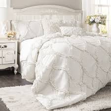 amazoncom lush decor avon piece comforter set king white