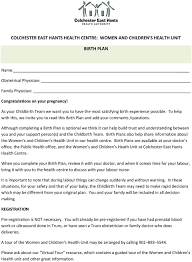 Why Is It Important To Have A Birth Plan Colchester East Hants Health Centre Women And Children S