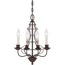 ashley harbour 4 light rustic antique bronze chandelier