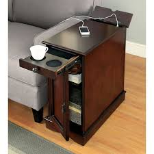 Furniture of America Terra Multi storage Side Table with Power Strip bc5107be cd83 44bb 9d96 cb8d552b2868 600