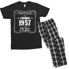 custom 60th birthday 1957 year of perfection gift idea t shirt men s t shirt pajama set by hung artistshot